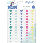 American Crafts - Head in The Clouds Collection - Enamel Dots with Glitter Accents