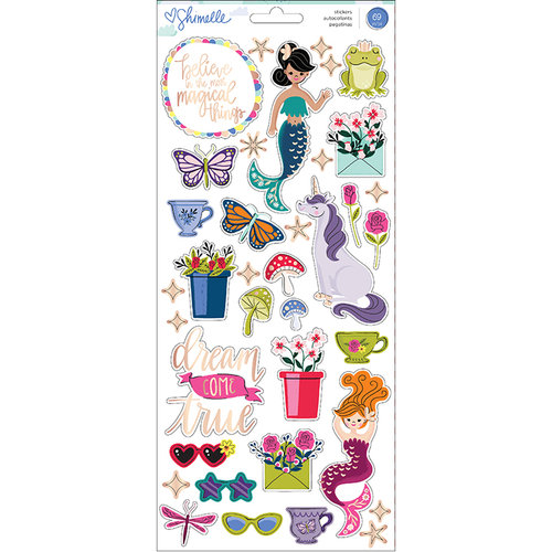 American Crafts - Head in The Clouds Collection - Cardstock Stickers with Foil Accents