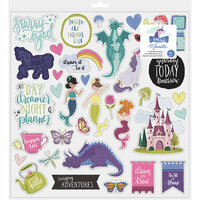 American Crafts - Head in The Clouds Collection - 12 x 12 Chipboard Stickers