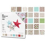American Crafts - 12 x 12 Patterned Paper Pack - 60 Sheets - Jolly