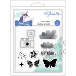 American Crafts - Head in The Clouds Collection - Clear Acrylic Stamps
