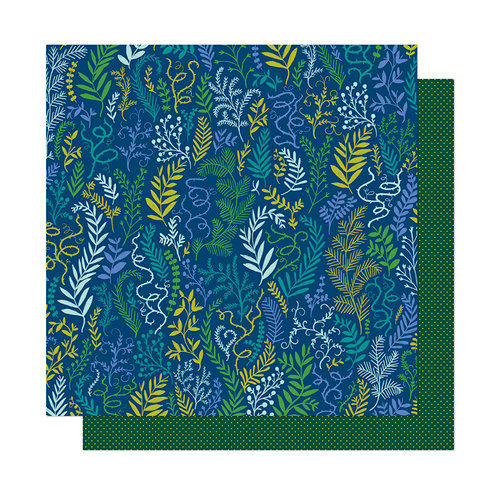 American Crafts - Head in The Clouds Collection - 12 x 12 Double Sided Paper - In The Forest