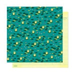 American Crafts - Head in The Clouds Collection - 12 x 12 Double Sided Paper - Kiss A Frog