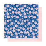 American Crafts - Head in The Clouds Collection - 12 x 12 Double Sided Paper - Borrowed Bliss