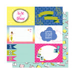 American Crafts - Head in The Clouds Collection - 12 x 12 Double Sided Paper - All Booked Up