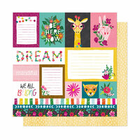 American Crafts - New Day Collection - 12 x 12 Double Sided Paper - Dreamer