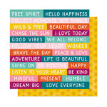 American Crafts - New Day Collection - 12 x 12 Double Sided Paper - Wild and Free