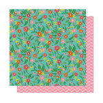 American Crafts - New Day Collection - 12 x 12 Double Sided Paper - Flower Child