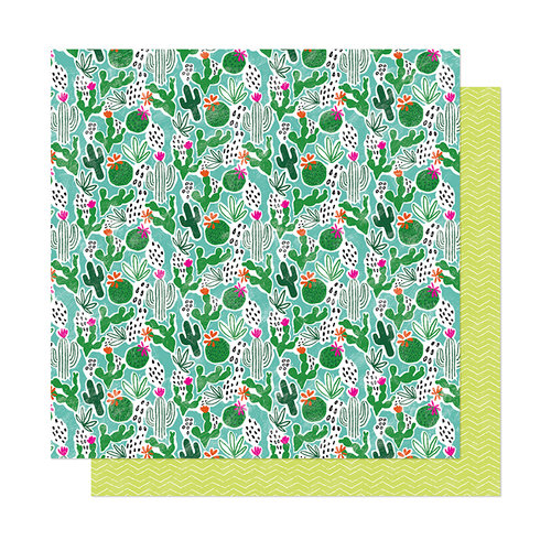 American Crafts - New Day Collection - 12 x 12 Double Sided Paper - Hello Happiness