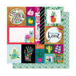 American Crafts - New Day Collection - 12 x 12 Double Sided Paper - Kind Heart
