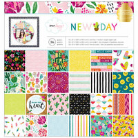 American Crafts - New Day Collection - 12 x 12 Paper Pad with Foil Accents