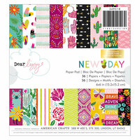 American Crafts - New Day Collection - 6 x 6 Paper Pad with Foil Accents