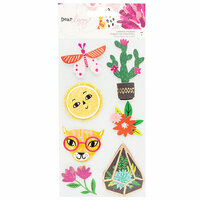 American Crafts - New Day Collection - Layered Cardstock Stickers with Foil Accents