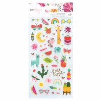 American Crafts - New Day Collection - Puffy Stickers