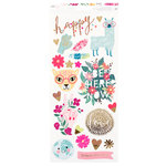 American Crafts - New Day Collection - Cardstock Stickers - Accents and Phrases with Foil Accents