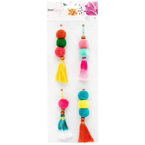 American Crafts - New Day Collection - Beaded Tassels