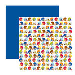 American Crafts - Junior Collection - 12 x 12 Double Sided Paper with Varnish Accents - King Me