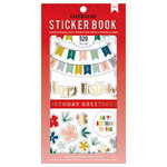 American Crafts - Cardmaking Sticker Book with Foil Accents - Birthday Greetings