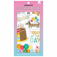 American Crafts - Cardmaking Sticker Book with Foil Accents - Happy Hooray