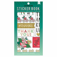 American Crafts - Cardmaking Sticker Book with Foil Accents - Lots of Thanks