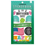 American Crafts - Cardmaking Sticker Book with Foil Accents - All The Holidays