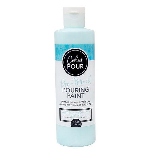 American Crafts - Color Pour Collection - Pre-Mixed Pouring Paint - Light Blue