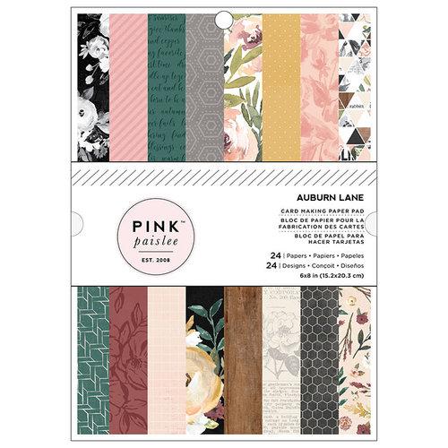 Pink Paislee - Auburn Lane Collection - 6 x 8 Paper Pad