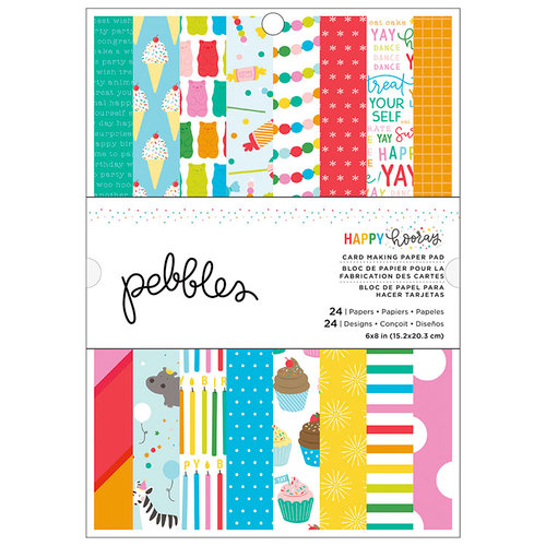 Pebbles - Happy Hooray Collection - 6 x 8 Paper Pad