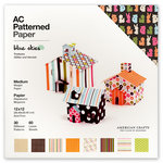 American Crafts - 12 x 12 Patterned Paper Pack featuring Glitter and Varnish - 60 Sheets - Blue Skies, CLEARANCE