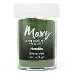 American Crafts - Moxy Embossing Powder - Metallic - Evergreen - 1 Ounce