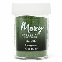 American Crafts - Moxy Embossing Powder - Metallic - Evergreen - .6 Ounce