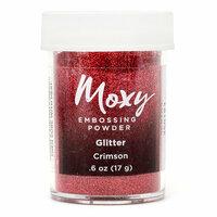 American Crafts - Moxy Embossing Powder - Glitter - Crimson - .6 Ounce