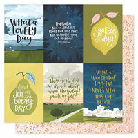 1 Canoe 2 - Goldenrod Collection - 12 x 12 Double Sided Paper- Golden Quotes