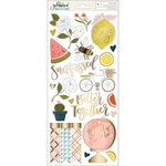 1 Canoe 2 - Goldenrod Collection - Cardstock Stickers with Foil Accents - Accents and Phrases