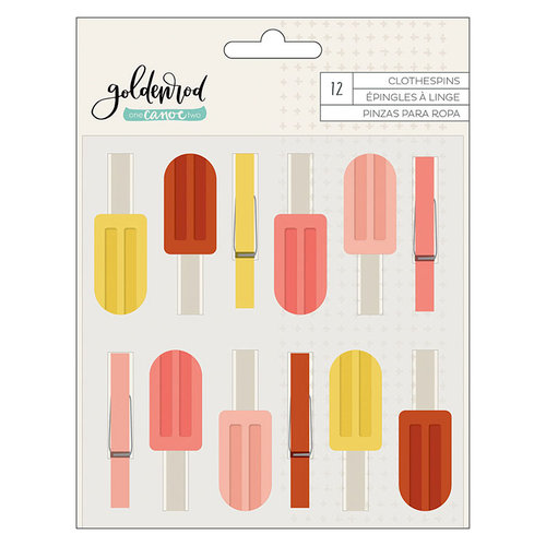 1 Canoe 2 - Goldenrod Collection - Clothespins