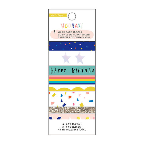 Crate Paper - Hooray Collection - Washi Tape Set with Holographic Foil and Glitter Accents