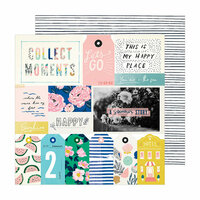 Crate Paper - Sunny Days Collection - 12 x 12 Double Sided Paper - Happy Place