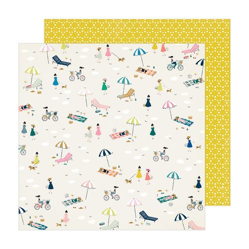 Crate Paper - Sunny Days Collection - 12 x 12 Double Sided Paper - Seaside