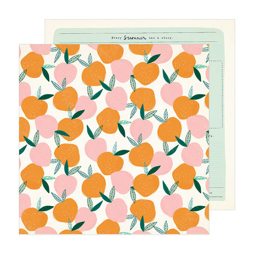 Crate Paper - Sunny Days Collection - 12 x 12 Double Sided Paper - Peachy