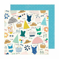 Crate Paper - Sunny Days Collection - 12 x 12 Double Sided Paper - Sunkissed