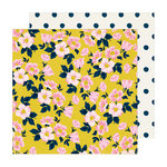 Crate Paper - Sunny Days Collection - 12 x 12 Double Sided Paper - Apple Blossom