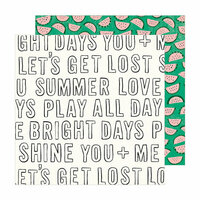 Crate Paper - Sunny Days Collection - 12 x 12 Double Sided Paper - Bright Days