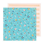 Crate Paper - Sunny Days Collection - 12 x 12 Double Sided Paper - Pool Time