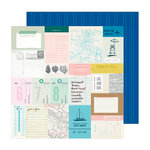 Crate Paper - Sunny Days Collection - 12 x 12 Double Sided Paper - Beach Day