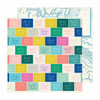 Crate Paper - Sunny Days Collection - 12 x 12 Double Sided Paper - Snapshot