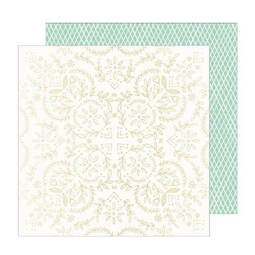 Crate Paper - Sunny Days Collection - 12 x 12 Double Sided Paper with Foil Accents - Solstice