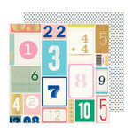 Crate Paper - Sunny Days Collection - 12 x 12 Double Sided Paper with Foil Accents - Lucky