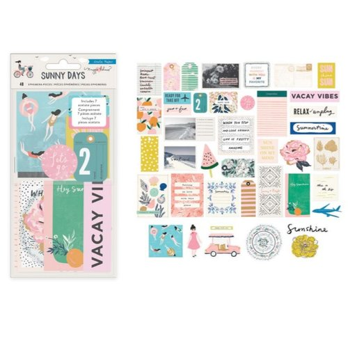 Crate Paper - Sunny Days Collection - Ephemera