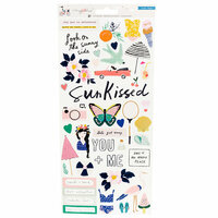 Crate Paper - Sunny Days Collection - Cardstock Sticker with Foil Accents