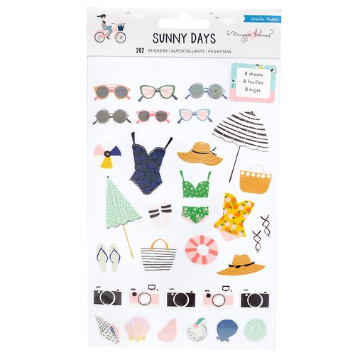 Crate Paper - Sunny Days Collection - Clear Sticker Book with Foil Accents